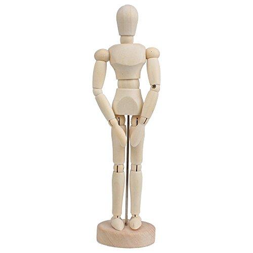 Diystyle wooden human デッサン人形 関節式 絵画モデル B07DFDLQ4N 1枚目