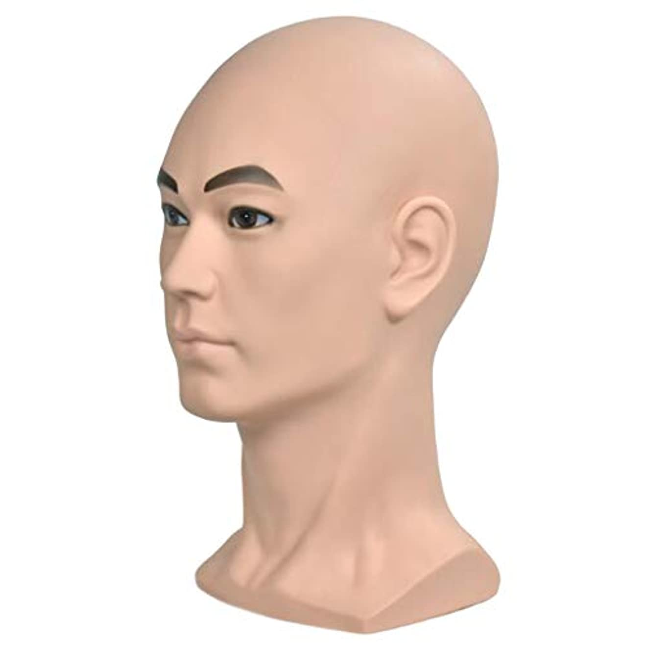 キャンセル軽艦隊Injoyo マネキンヘッド 男性 ヘッドモデル メイク 化粧練習 ウィッグ かつら ディスプレイ ホルダー