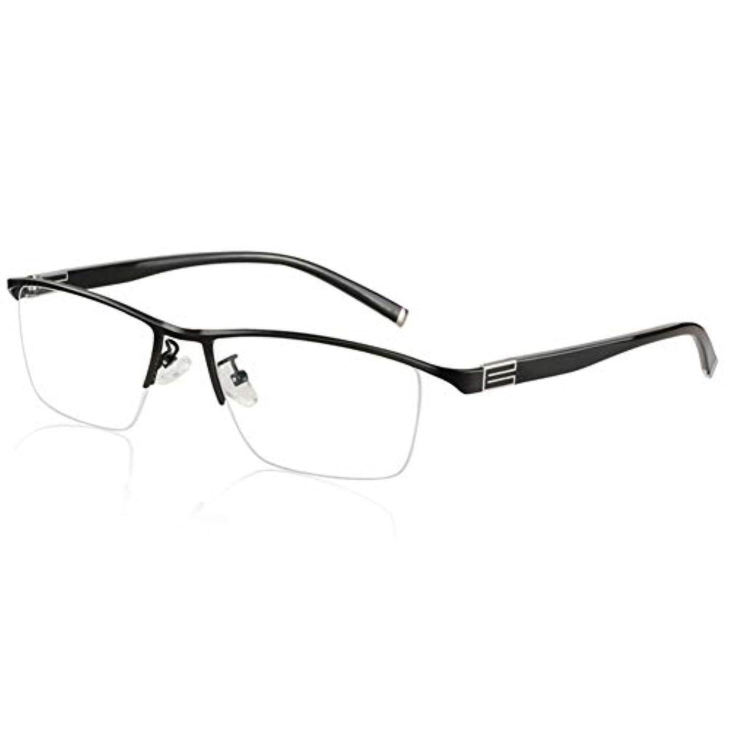 ひどく失敗気がついて老眼鏡、男性と女性のための、ハーフフレーム折りたたみ式スプリングヒンジパターン、二重用途に近い変色、