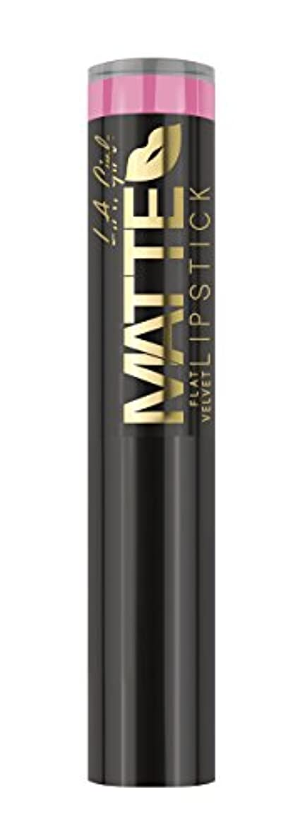 発揮するチャンス治安判事L.A. GIRL Matte Flat Velvet Lipstick Love Story (並行輸入品)