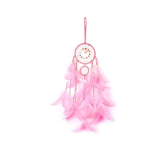 Lioong Fairy Light Up Dreamcatcher Led String Lights Dream Catchers for Boys Girls Kids Gifts with Blue Black & White Feathers