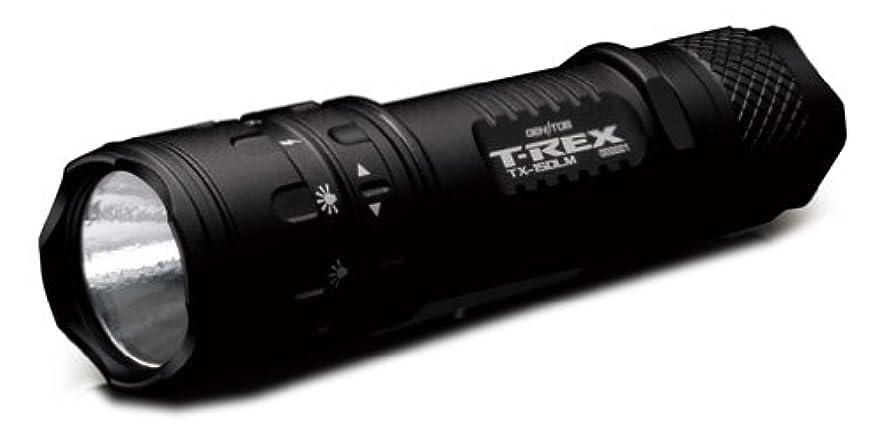 チャレンジ州温度ジェントス 懐中電灯 【明るさ150ルーメン/実用点灯3時間】 T-REX TX-150LM