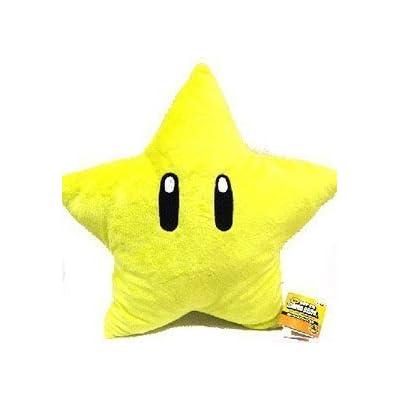 Super Mario Brothers Plush Star 11 Inch Yellow Starman Doll by Super Mario Brothers