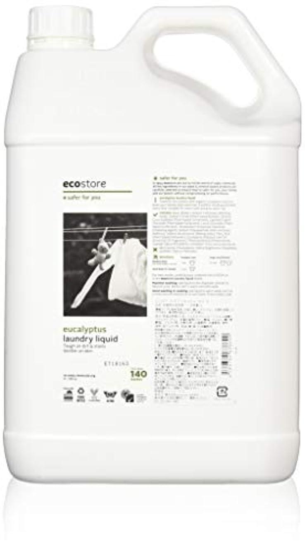 横向き慣習デマンドecostore エコストア ランドリーリキッド 【ユーカリ】 大容量 5L 洗濯用 液体 洗剤