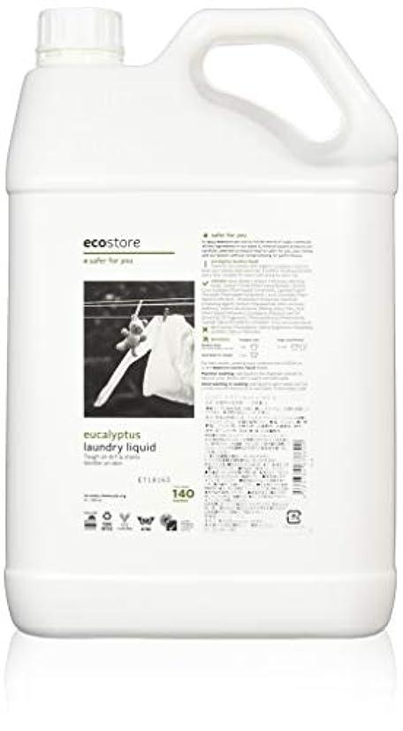 視力うまれたナースecostore エコストア ランドリーリキッド 【ユーカリ】 大容量 5L 洗濯用 液体 洗剤