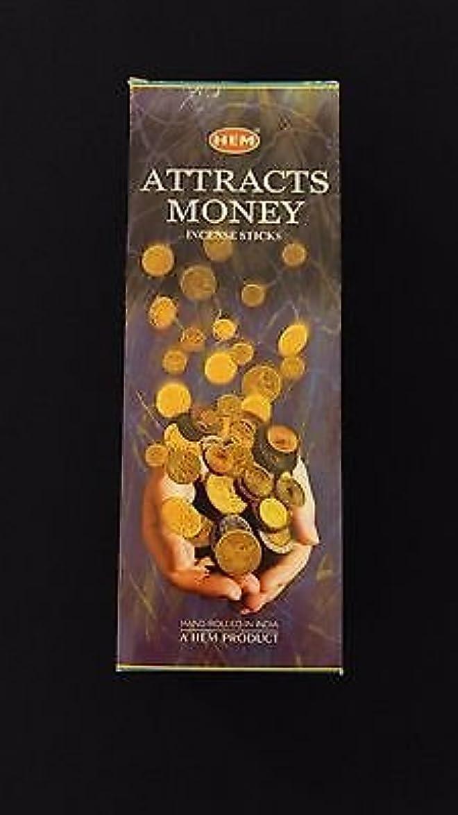 霜谷おんどりAttracts Money 6ボックスの20 = 120裾Incense Sticksバルクケース小売表示