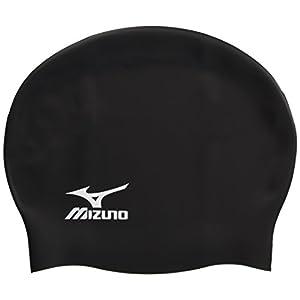 MIZUNO(ミズノ) 競泳 スイムキャップ 水泳帽 シリコーン FINA承認 85BB75009 ブラック