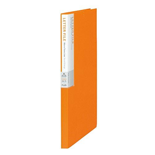 プラス PPレターファイル A4縦 2穴 背幅17mm デジャヴ 89-925 ネーブルオレンジ
