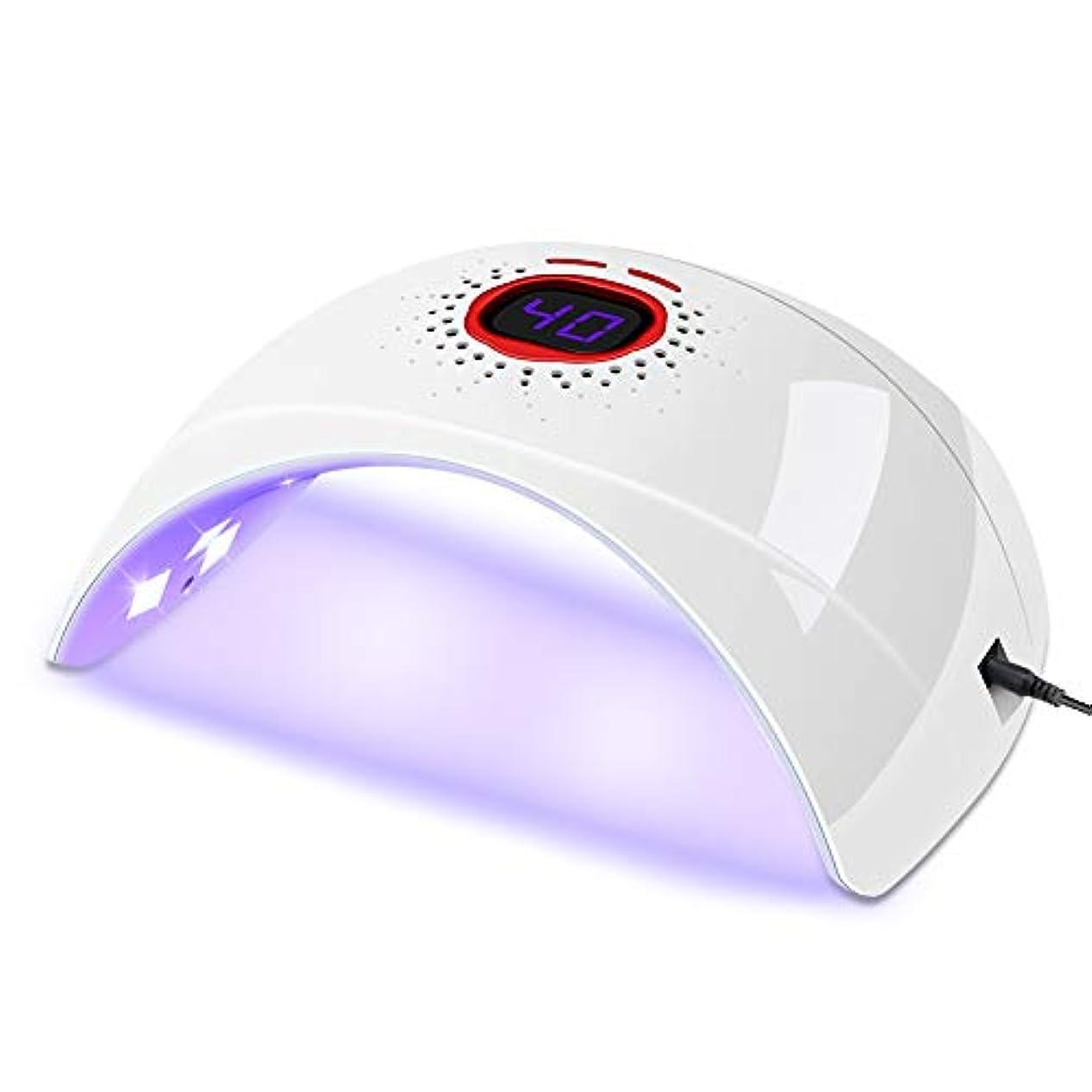 アンカー音放映SULET UVライト ネイルドライヤー 硬化用UVライト 赤外線検知 180° 速乾UV 30s/60sタイマー表示 プロ向き 初心者適用 高速硬化 日本語説明書付き(白)