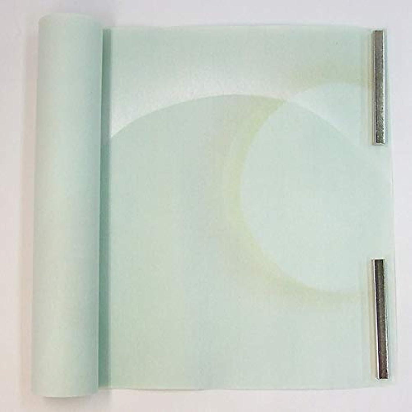 コック地球先のことを考える半切 楮紙 染 銀青色泥波紋ボカシ 銀砂子 青磁 10枚 仮名用 加工紙