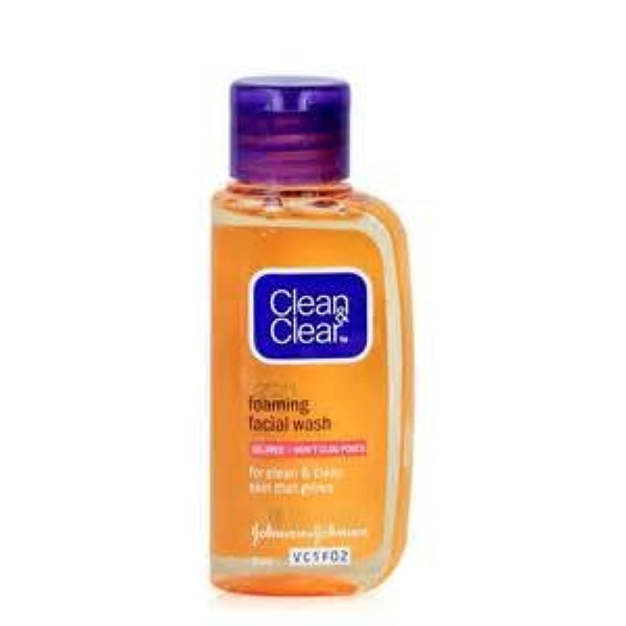増幅泥夢クリーン&クリア エッセンシャル フォーミング フェイシャル ウォッシュ clean&clear essentials foaming facial wash 50ml