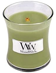 ホワイトWillow Moss WoodWickミニ砂時計Jar Candle