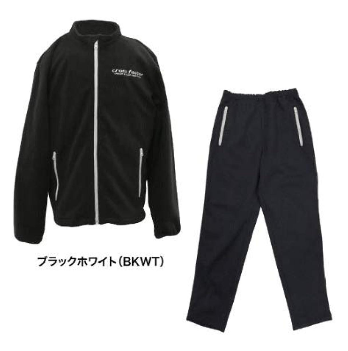間ジョットディボンドンやる浜田商会 フリースジップウェア(上下セット) WBC1533 ブラックホワイト L