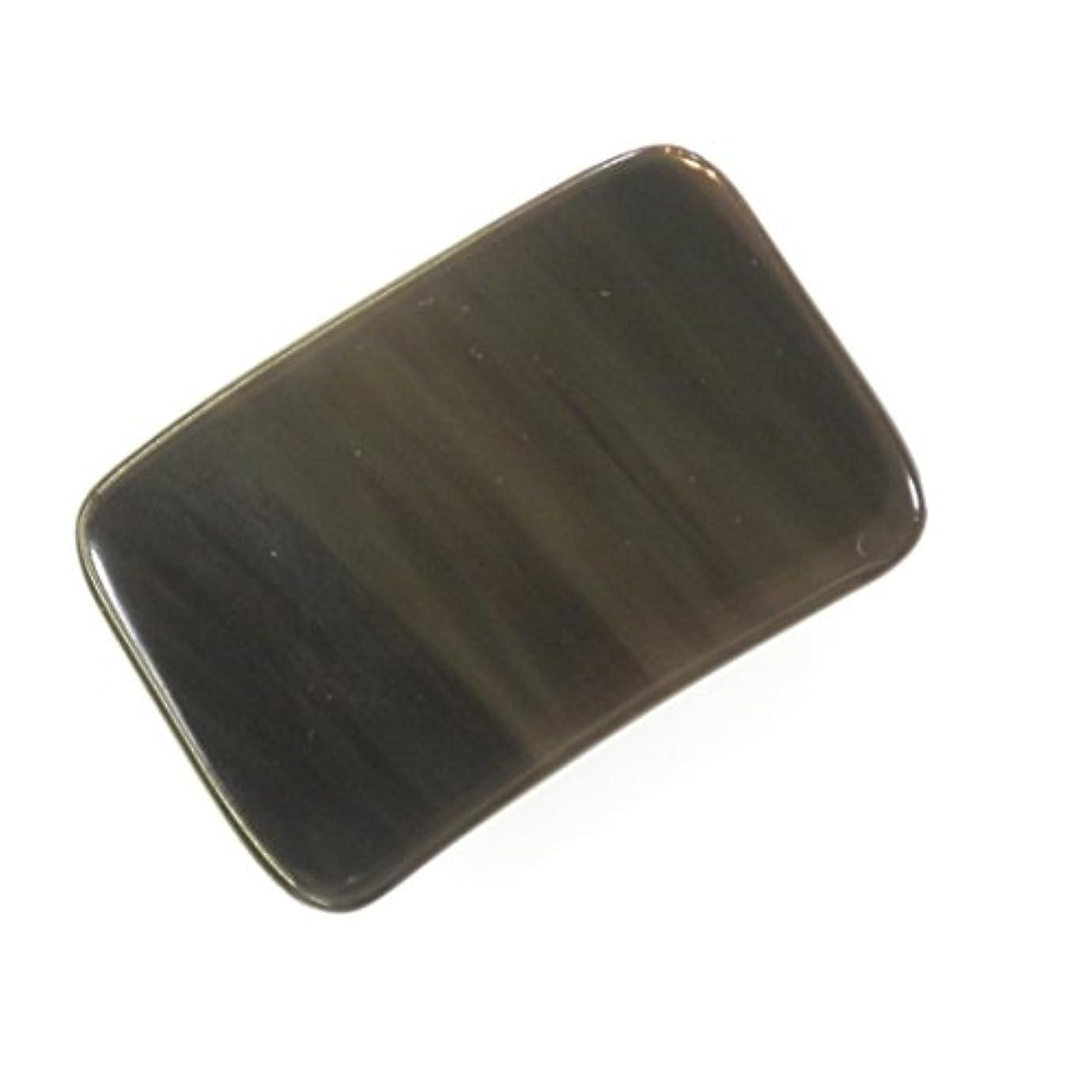 異常規範無関心かっさ プレート 厚さが選べる 水牛の角(黒水牛角) EHE214 長方形小 一般品 標準(6ミリ程度)