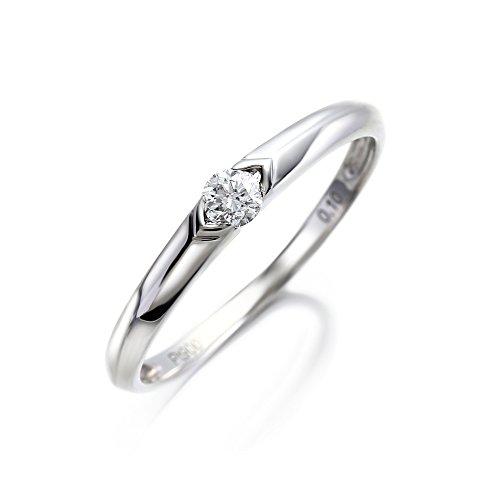 LEGAN エンゲージリング 婚約指輪 13号 永遠の輝き プラチナ ダイヤモンド 0.1ct UP ギフトボックス付