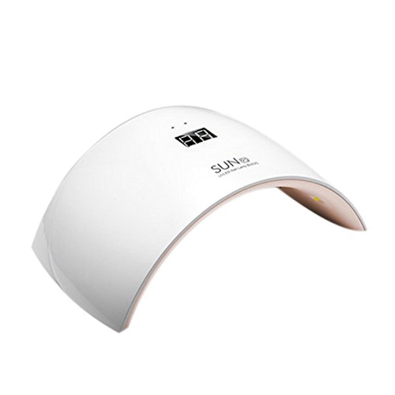 法令顧問促進するSymboat ネイルアートツール 24W ネイルドライヤー ライト付き ボトム液晶 ディスプレイ 硬化用UVライト led ランプ爪トゥール ネイルジェル ベース ポリッシュ 4段階タイマー設定時間設定10S/30S/...