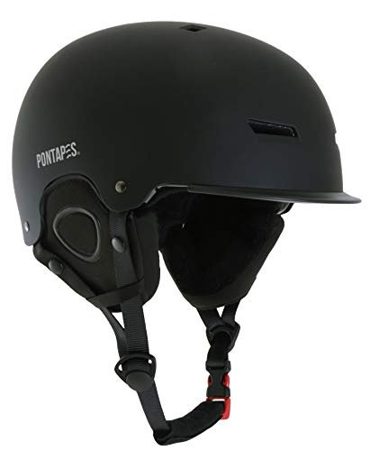 PONTAPES(ポンタペス) スノーボード ヘルメット スキー ダイヤルサイズ調節可 メンズ レディース 大人用 M/...