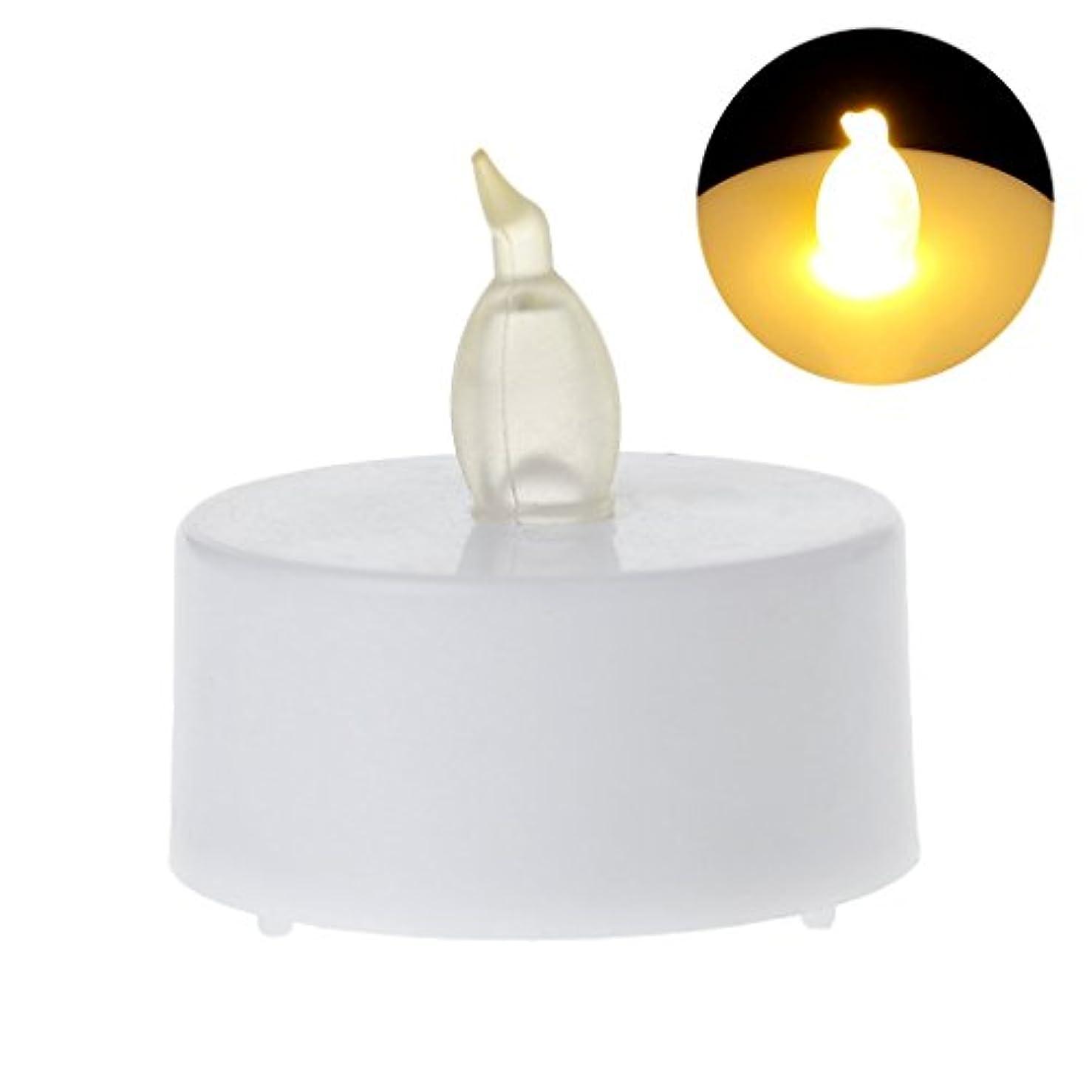 大惨事悪因子札入れSimpleLife 無炎LEDティーライトのキャンドルライト電池は、ホームウェディングパーティーのために運営