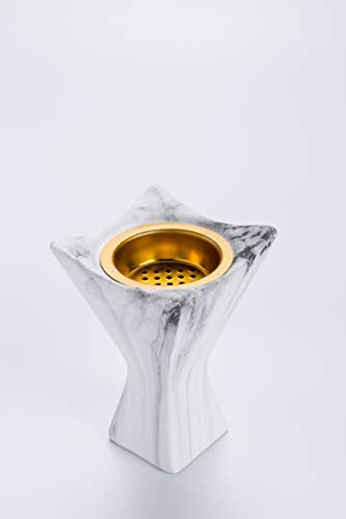 ダーツハイジャック豆KDS アラビア産炭 Bakhoor お香炉 ホワイトセラミック 乳香ホルダー ホワイト