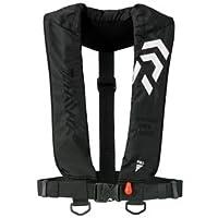 ダイワ インフレータブルライフジャケット(肩掛けタイプ手動・自動膨脹式) ブラック フリー DF-2608