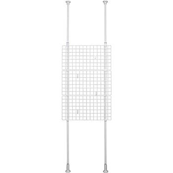 平安伸銅工業 突っ張りネット間仕切り ホワイト 幅70cm高さ200~275cm TNP-2