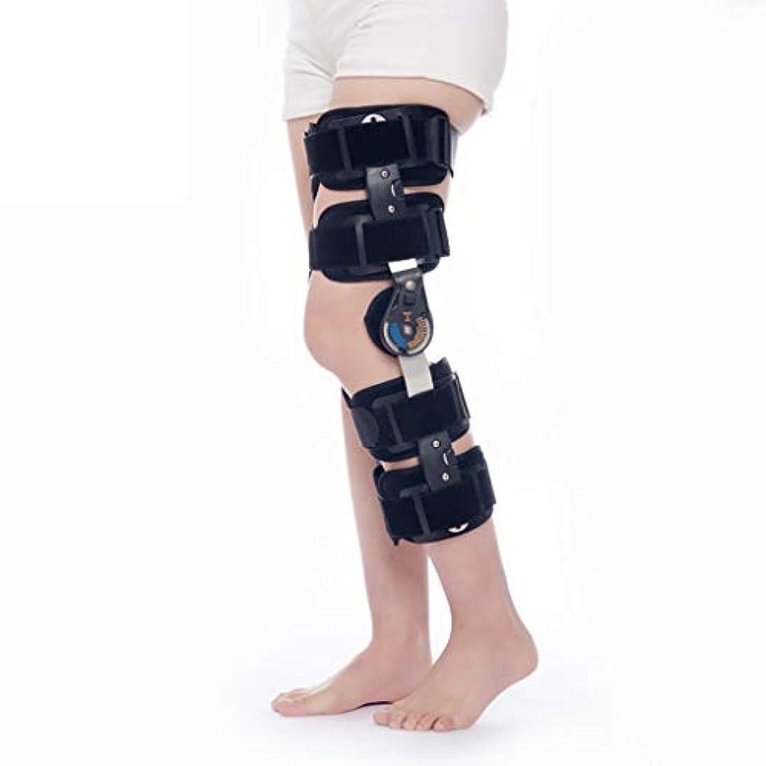 約粗い拷問ROM膝サポーター付きストラップ、調整可能なレッグスタビライザー回復固定スプリント、整形外科用リハビリ、術後、メニスカス裂傷