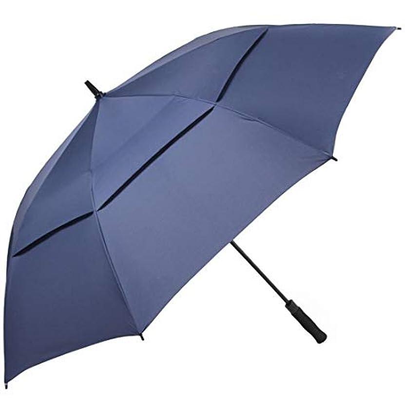 ブレーク植生反発Summerys 新しい傘二層通気性ビジネス傘ゴルフ傘ストレートバービジネス傘ゴルフ傘 (Color : Navy)