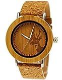 """Henny Kleinドイツハンドメイド木製Designer Maple Wood腕時計Ladies Eco Naturalレディースブレスレットと鹿のコルクコルクダイヤル"""" Limited Edition """" Including Watchボックス (¥ 21,963)"""