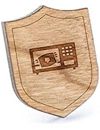 電子レンジポップコーンラペルピン、木製ピンとタイタック|素朴な、ミニマルGroomsmenギフト、ウェディングアクセサリー