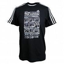 アディダス オフサイド Tシャツ ブラック×ホワイト L