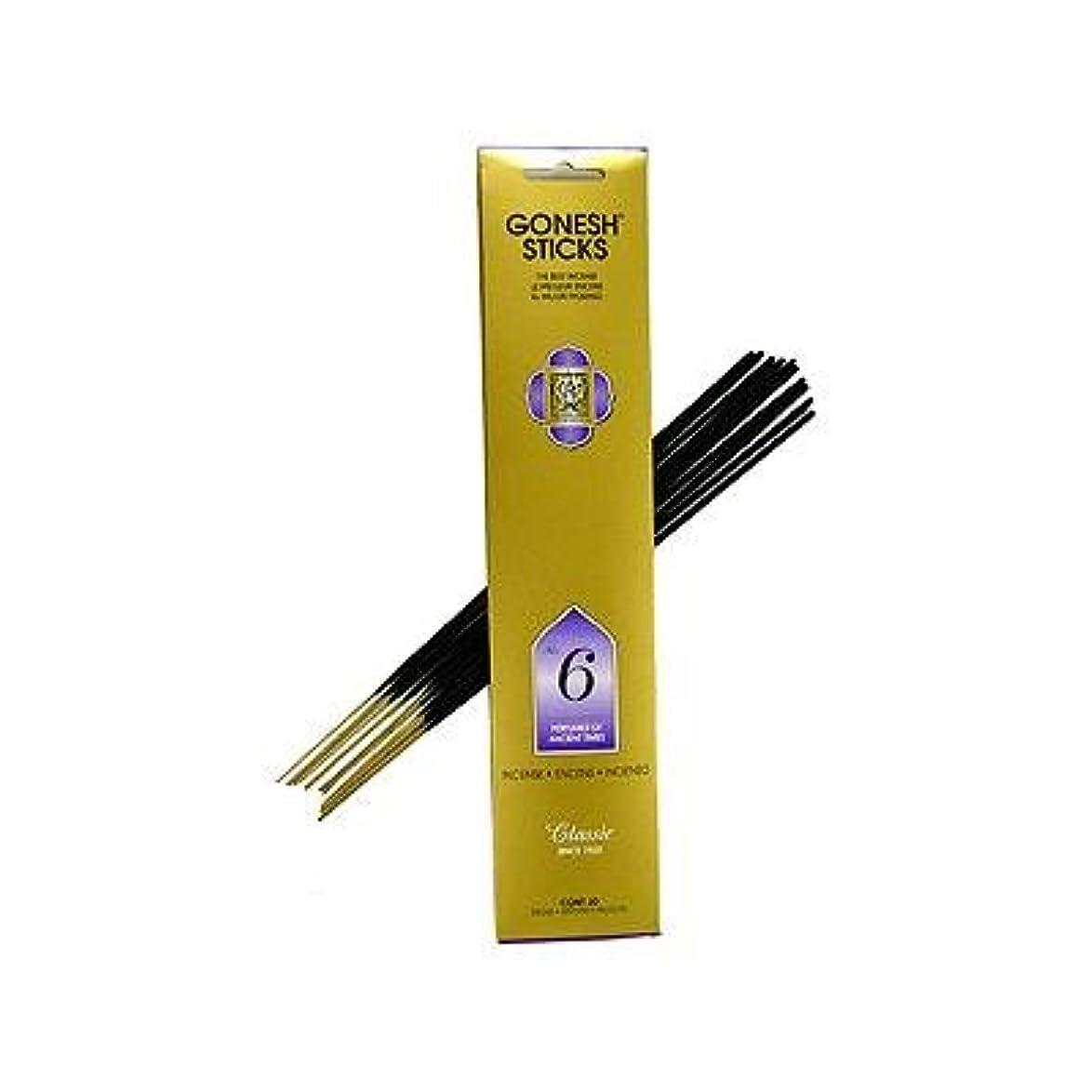 添付平和バンカーGonesh ~ No. 6 (Perfumes of Ancient Times) ~ Incense Sticks ~ Pack of 4 by Gonesh [並行輸入品]