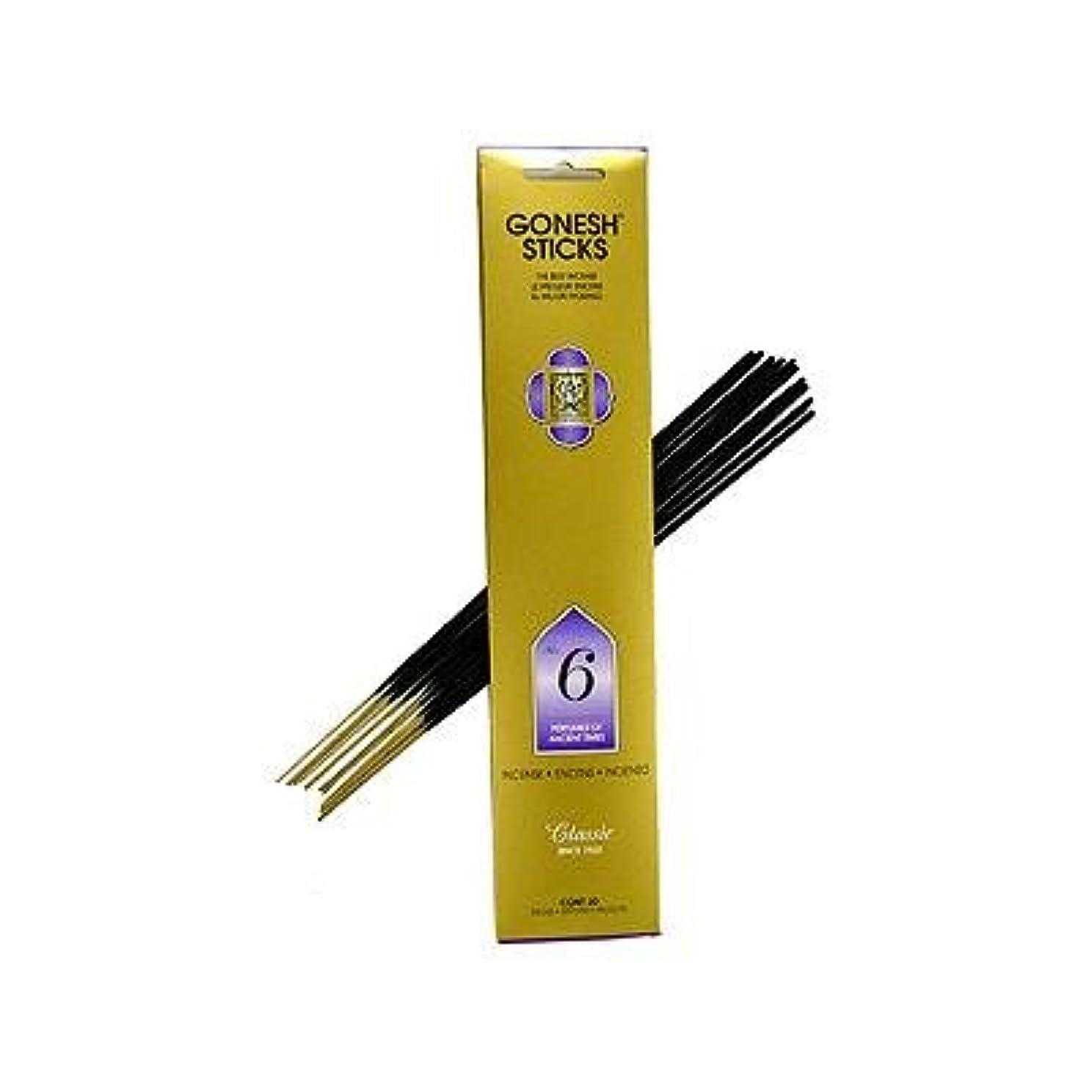 バンケット利益死ぬGonesh ~ No. 6 (Perfumes of Ancient Times) ~ Incense Sticks ~ Pack of 4 by Gonesh [並行輸入品]