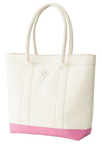 【Mercedes-Benz Collection】 トートバッグ キャンバス ホワイト/ピンク