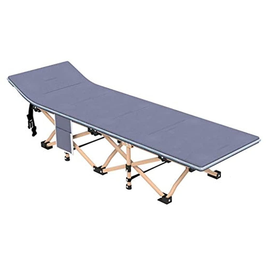 派生するシマウマクリエイティブロッキングチェア、折りたたみベッド、ポータブルスポーツキャンプ、マット付き、小さな折りたたみ式の超強力なシングルパーソンベッドラウンジチェア(色:B)