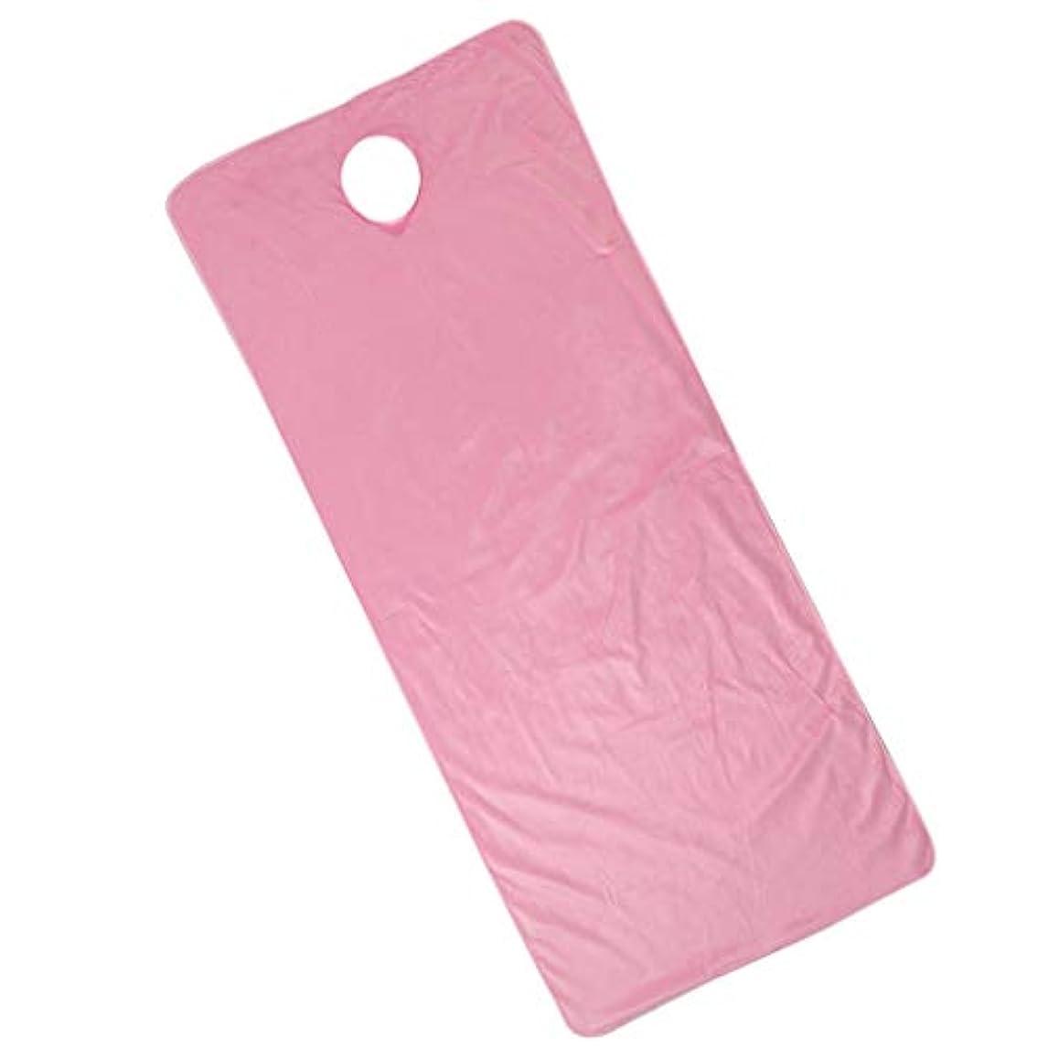 F Fityle 美容ベッドカバー 有孔 スパ マッサージベッドカバー ピンク