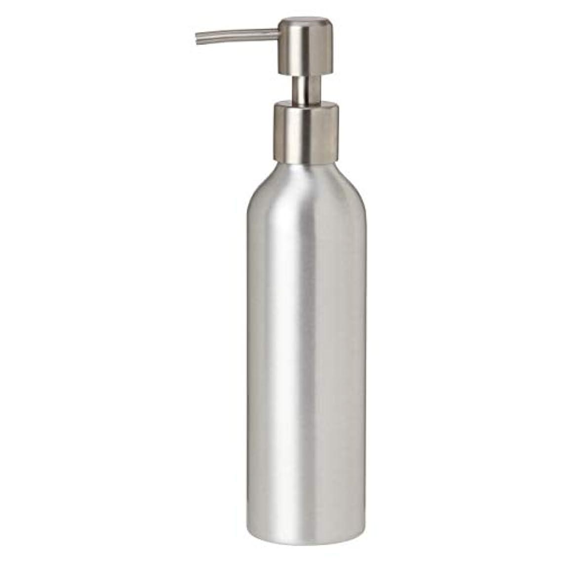 盆地いたずら奴隷アルミポンプボトル 250mL [ オイルウォーマー オイルトリートメント オイルボトル マッサージオイル アロママッサージオイル ボディマッサージオイル ボディオイル アロマオイル ]