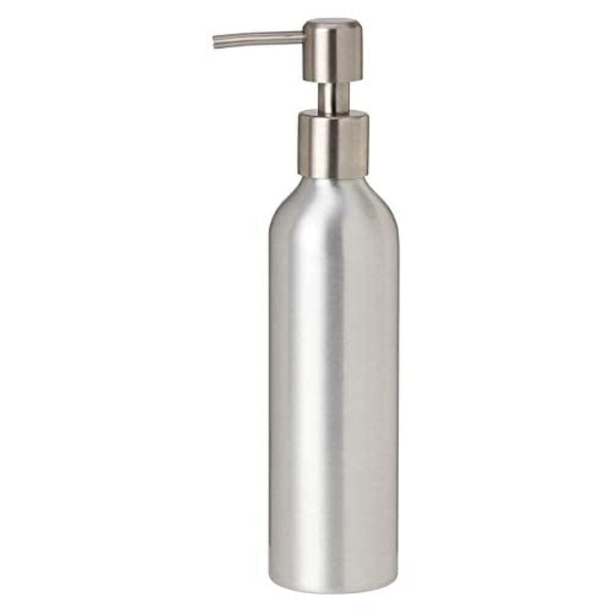 出発するひどくタンザニアアルミポンプボトル 250mL [ オイルウォーマー オイルトリートメント オイルボトル マッサージオイル アロママッサージオイル ボディマッサージオイル ボディオイル アロマオイル ]