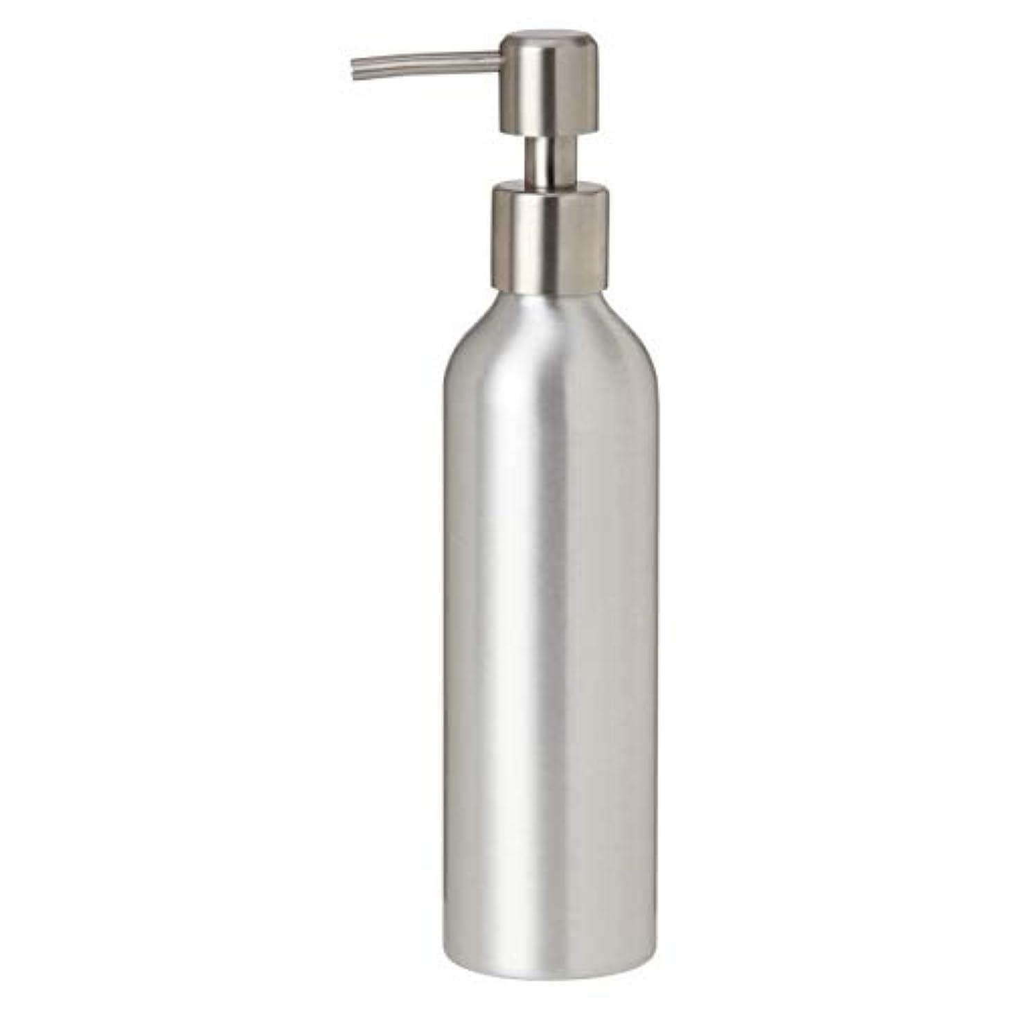 アルミポンプボトル 250mL [ オイルウォーマー オイルトリートメント オイルボトル マッサージオイル アロママッサージオイル ボディマッサージオイル ボディオイル アロマオイル ]