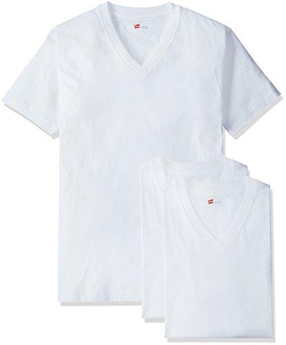 (ヘインズ)Hanes Tシャツ アカラベル Vネック 3枚組 HM2145K
