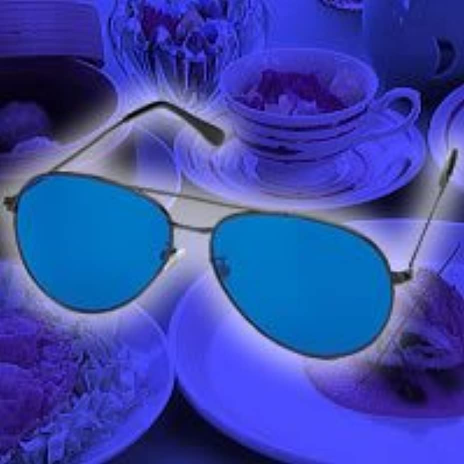 診断する酸っぱい広告青色ダイエットめがね(青色めがね)食べる5分前に使用でダイエット 青色アイグラス リラックスで食欲を抑える 青色めがねダイエット