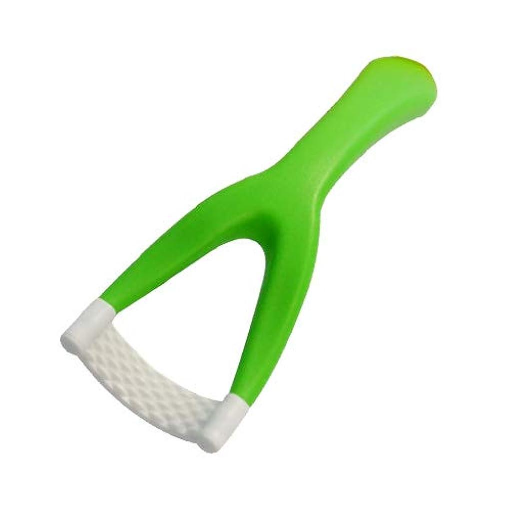 の頭の上鋸歯状バーチャル使いやすーい 「舌ブラシ」 1本 ミントグリーン