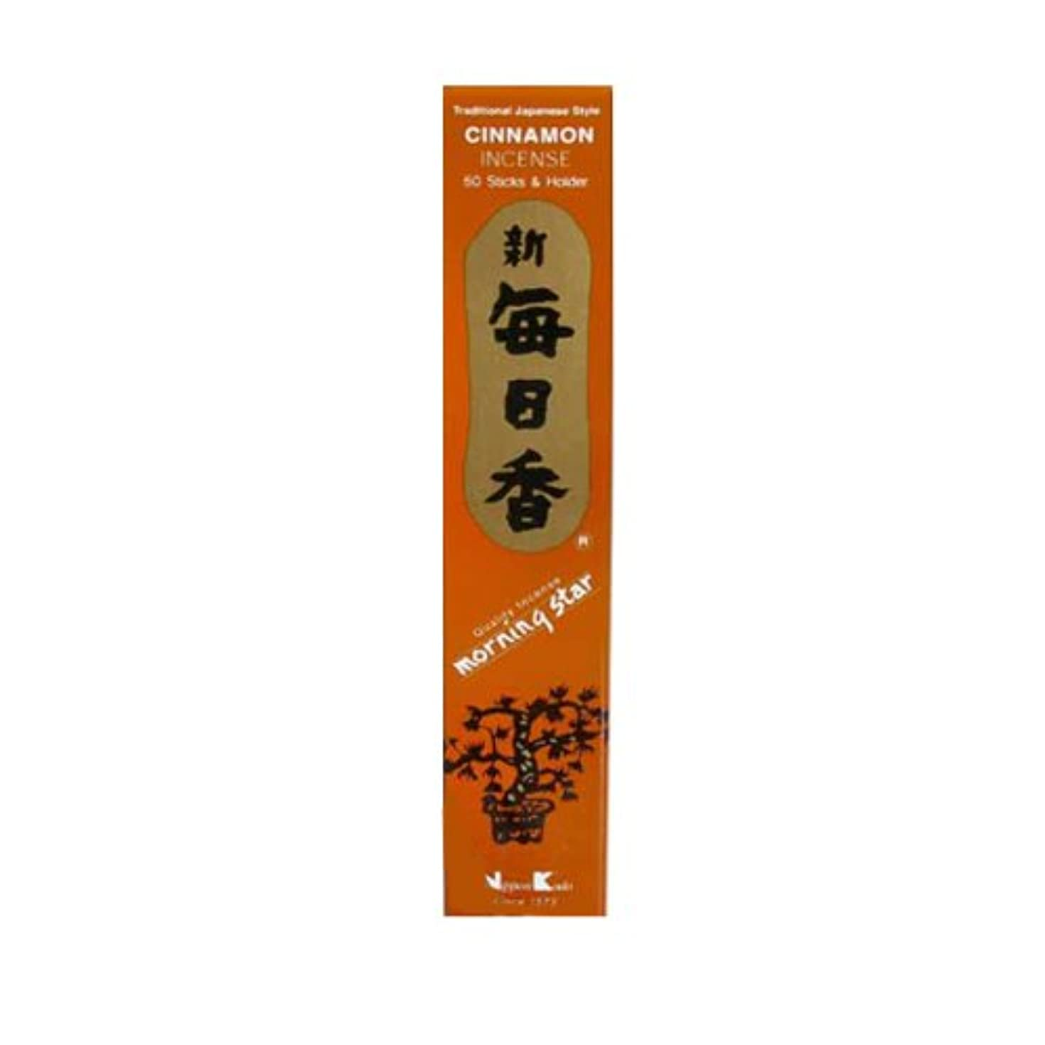 面腹花婿Morning Star Cinnamon Incense (50 Sticks)
