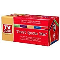 "Don't Quote Me. TV Guide Board Game by ""3D Wiggles, Inc."""