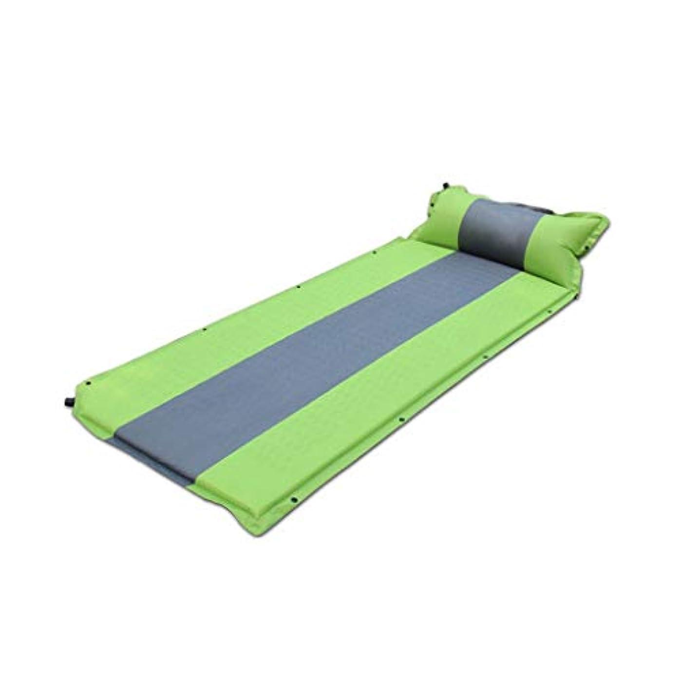 出来事パニック不完全XF 自動インフレータブルクッション拡大シングルマット屋外肥厚拡大ピクニックマットキャンプテントシエスタマットベッド、187×67×3.5センチ キャンプ用寝具 (Color : B)