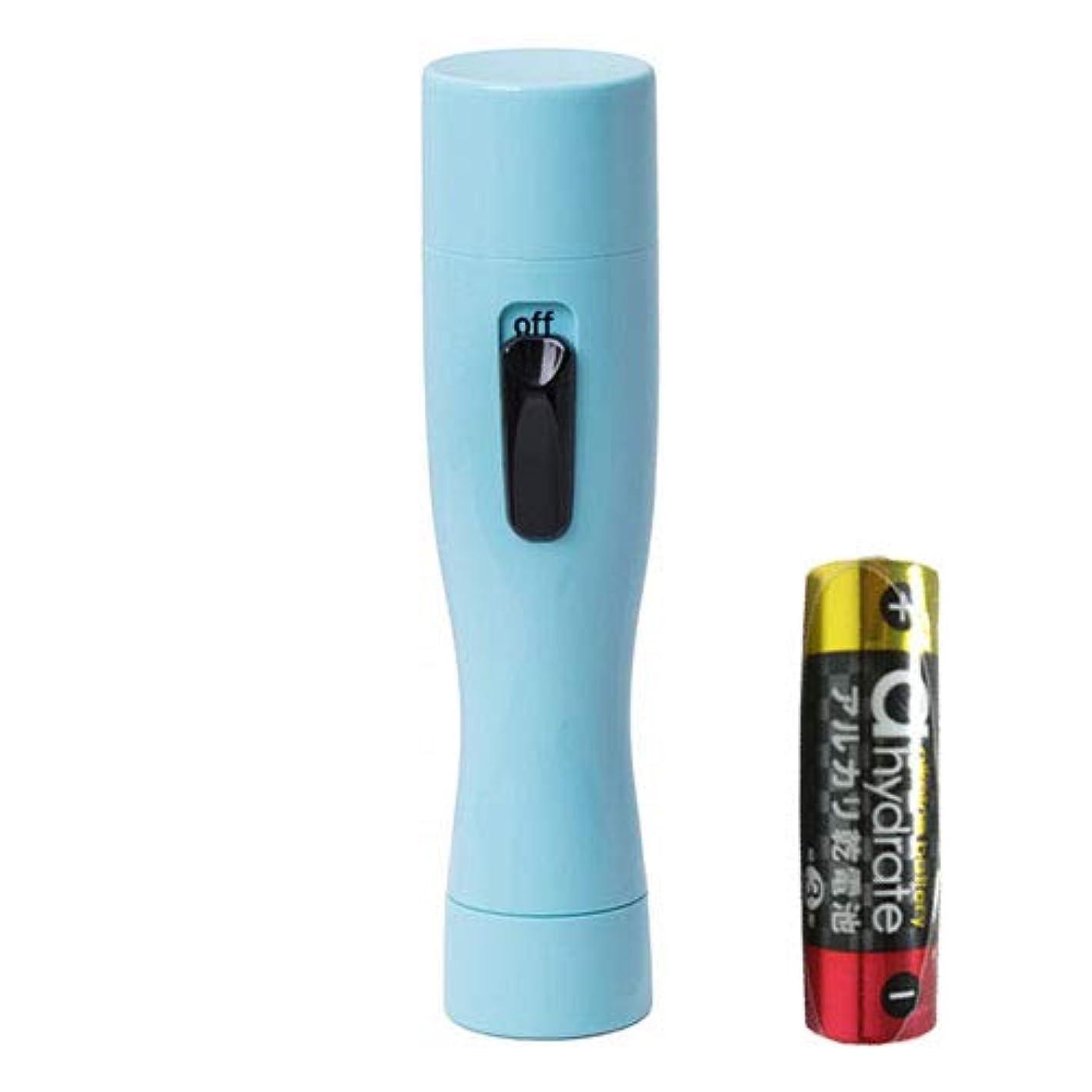 連合開梱最初アルファP Solstick mini(ソルスティックミニ) パステルブルー + 単3アルカリ乾電池セット