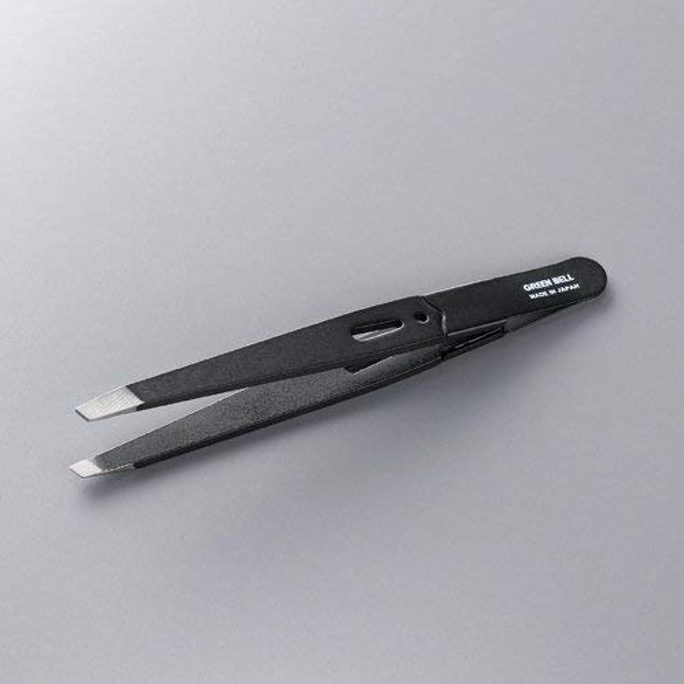 グリーンベル 驚きの毛抜き 先斜めタイプ ブラック GT-222 × 120個セット