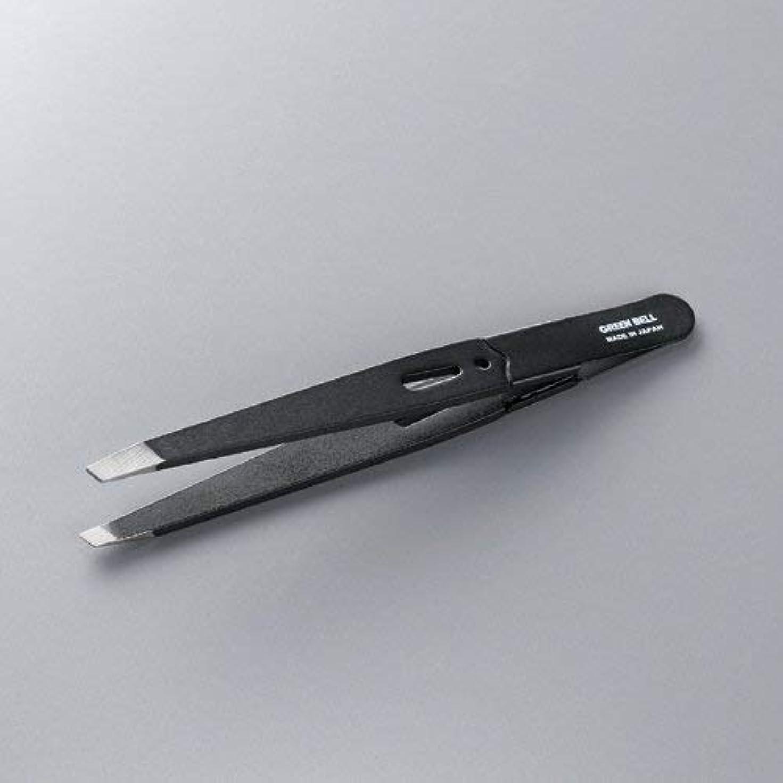揺れるグリーンランド前書きグリーンベル 驚きの毛抜き 先斜めタイプ ブラック GT-222 × 3個セット