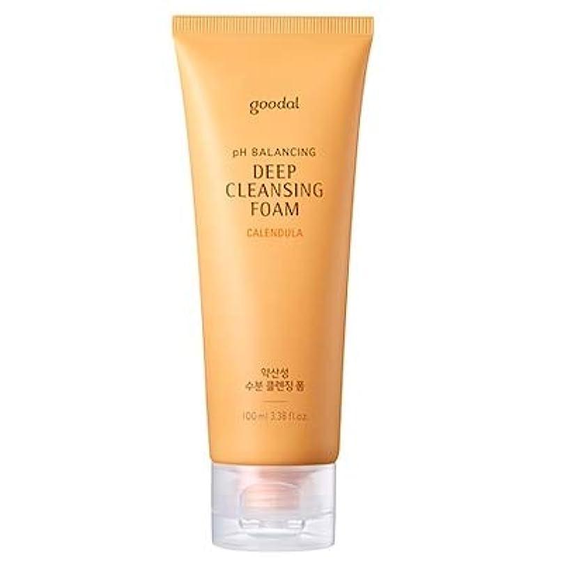 ランドリーホールドオールに賛成Goodal Calendula pH Balancing Deep Cleansing Foam グーダル カレンデュラ 弱酸性 ディープ クレンジング フォーム 100ml [並行輸入品]