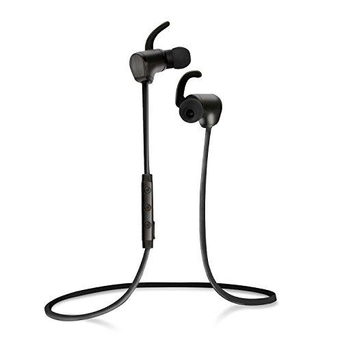 Bluesim Bluetooth イヤホン ヘッドフォン Bluetooth4.1 ワイヤレス スポーツ イヤホン マグネット内装 ヘッドセット ハンズフリー通話 内蔵式マイク CVC6.0 ノイズキャンセリング aptXコーデック技術 高音質 ブラック