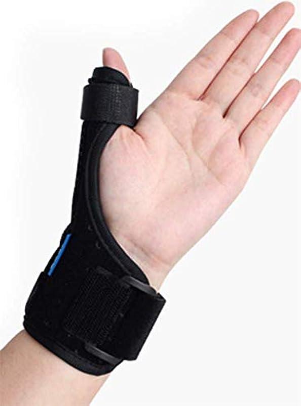 アルカトラズ島攻撃的修士号関節炎親指スプリント装具、手根管手首装具、親指イモビライザー、壊れた指/腱炎/急性捻/のためのトリガー指スプリント (標準)